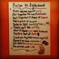 Recipe To Sisterhood